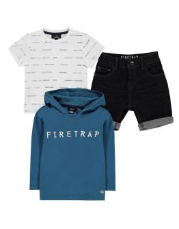 Firetrap 3 Piece Shorts Set Infant Boys