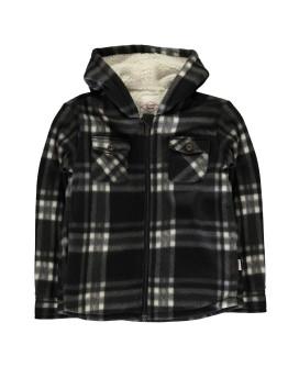 Lee Cooper Hooded Fleece Shirt Junior Boys
