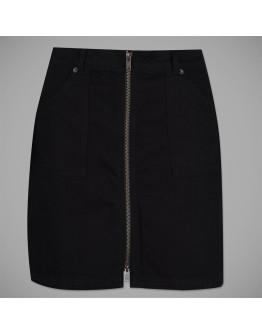 Jack Wills Chartham Full Zip Denim Skirt