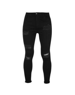 Nimes X Distress Skinny Jeans Mens