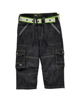 No Fear Belted Cargo Denim Shorts Junior Boys